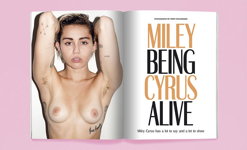 Des photos de Miley Cyrus complètement nue