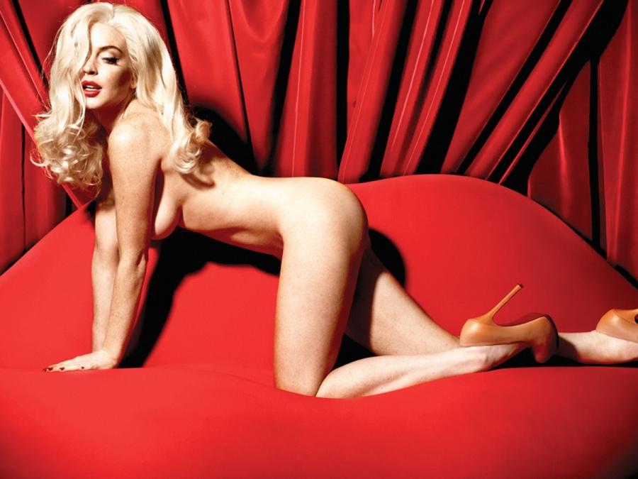 Lindsay Lohan pose nue en Marilyn Monroe