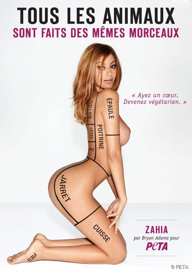 La photo de Zahia Dehar nue pour la campagne de PETA