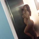 Un selfie de Kim Kardashian nue enceinte