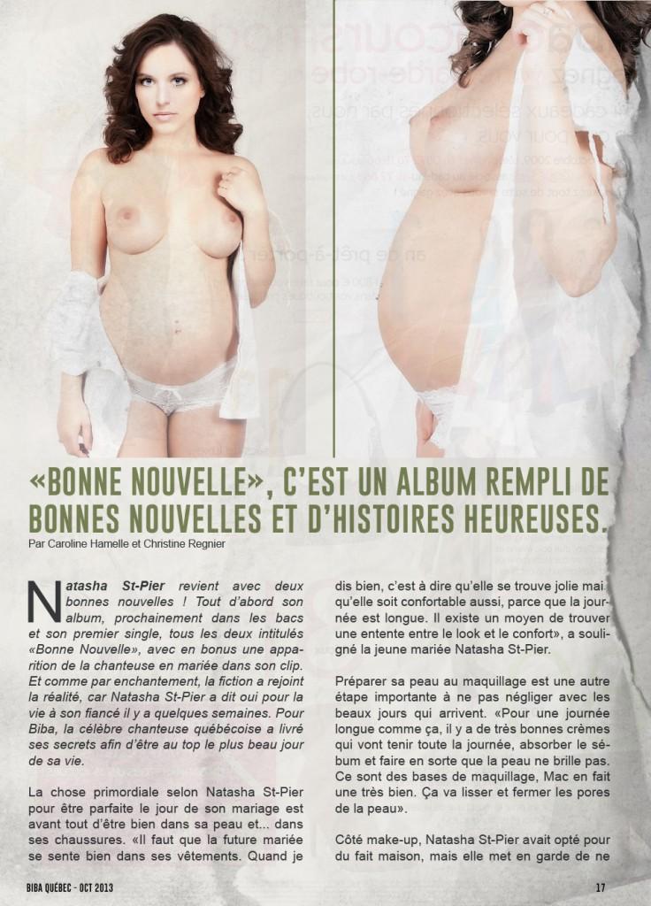 Toutes les photos de Natasha St-Pier nue et seins nus
