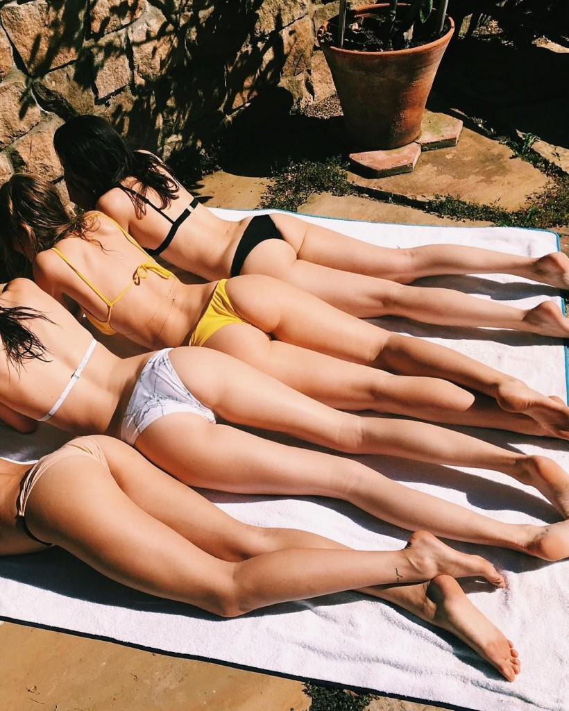 Les jolies fesses de Kendall Jenner, Hailey Baldwin, Camila Morrone et Lauren Perez