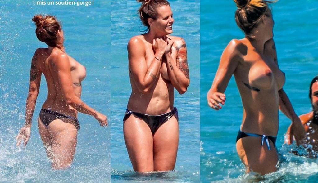 Des photos de Laure Manaudou seins nus sur la plage