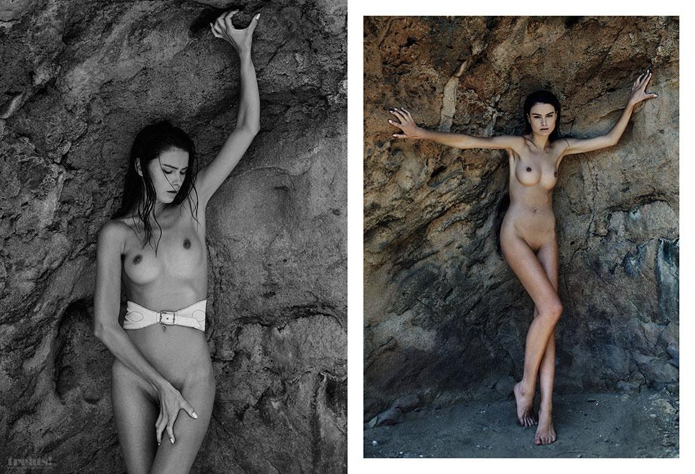 Des photos de Pauline Moulettes nue et seins nus