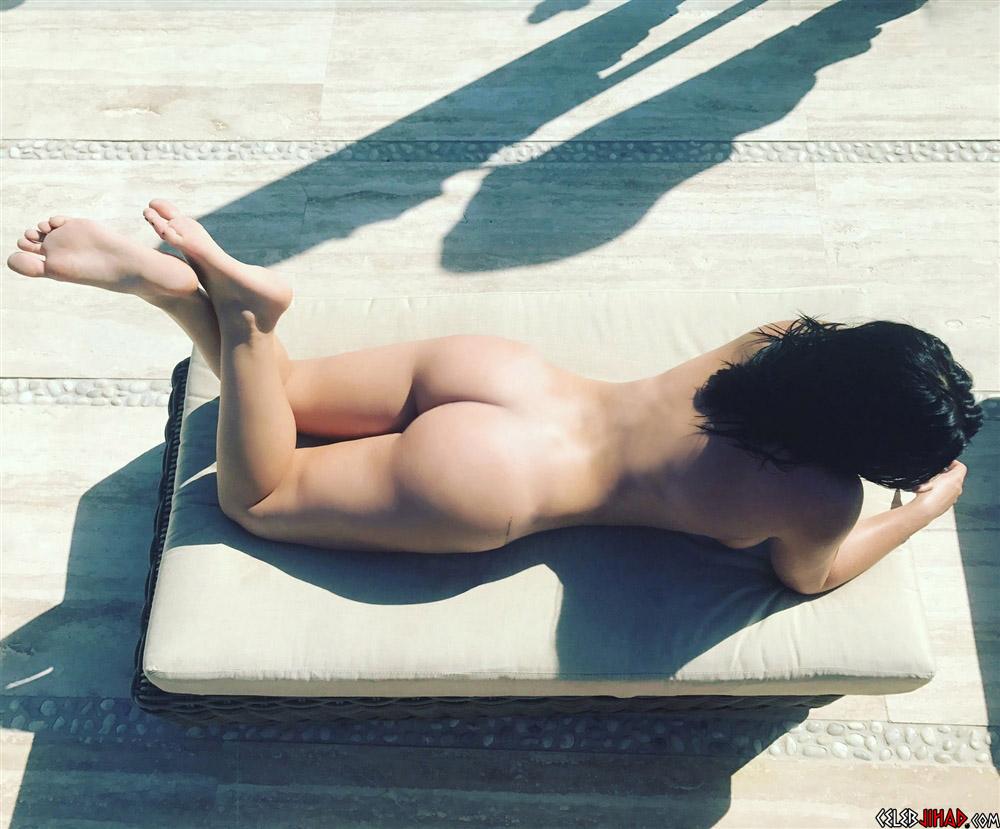 sunbathing naked