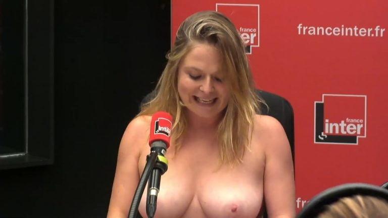 Des photos de Constance Pittard seins nus à la radio