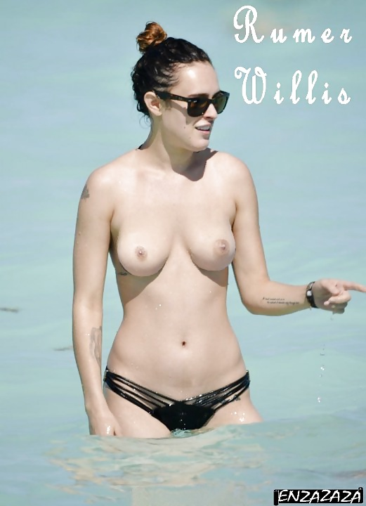 Toutes les photos de Rumer Wilis nue et seins nus